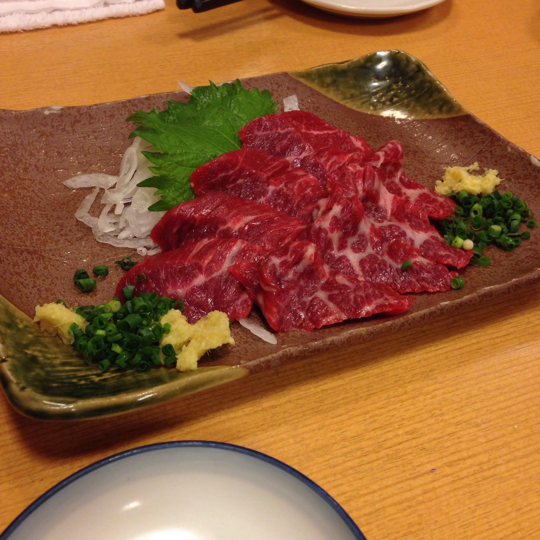 九州料理の馬刺しについて